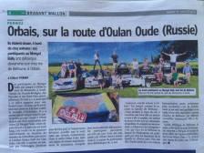 We made the paper   Orbais, Belgium