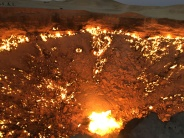 Darvaza gas crater | Darvaza, Turkmenistan