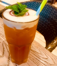 Passion fruit iced tea | Cafe Javas | Entebbe, Uganda